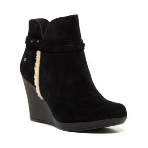 Ugg Alexandra Wedge Suede Booties